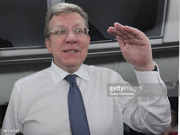 Former Russian Finance Minister and economist Alexei Kudrin talks after a meeting with ministers on an economy development April 222013 in Sochi...
