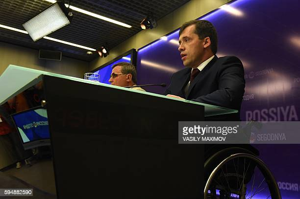 Former Russian Paralympian Mikhail Terentyev a federal lawmaker and member of the Russian Paralympic Committee's executive board Mikhail Terentyev...