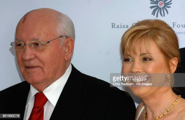 Former Russian President Mikhail Gorbachev and his daughter Irina Viganskaya arrive at the Raisa Gorbachev Foundation Russian Ball at Althorp House...