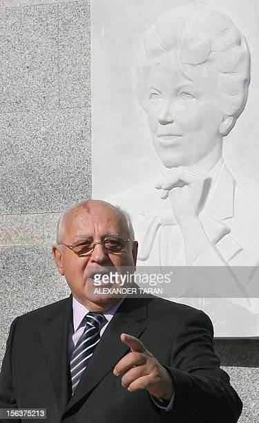 Former Russian President Mikhail Gorbachev delivers a speech during an opening ceremony of the Institute of Pediatric Hematology and Transplantology...