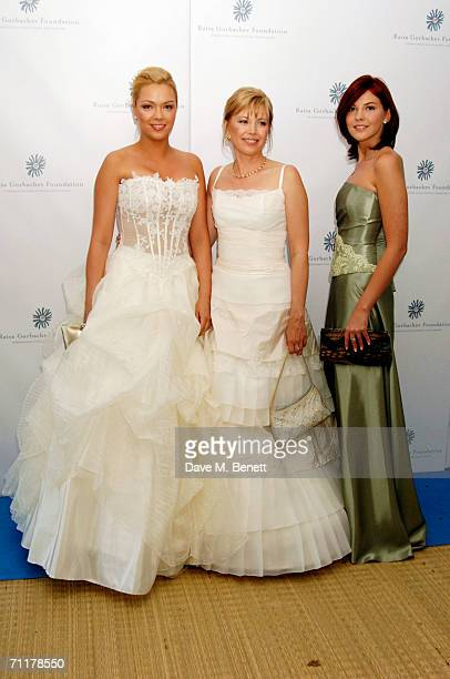 Former Russian president Mikhail Gorbachev's daughter Irina Virganskaya and granddaughters Ksenia and Anastasia Virganskaya attend the Raisa...