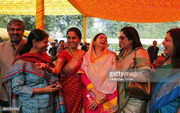 Former Samajwadi Party MP Neeraj Sekhar Singh DMK Leader Kanimozhi NCP Leader Supriya Sule SAD leader Harsimrat Badal BJP leaders Kirron Kher and...