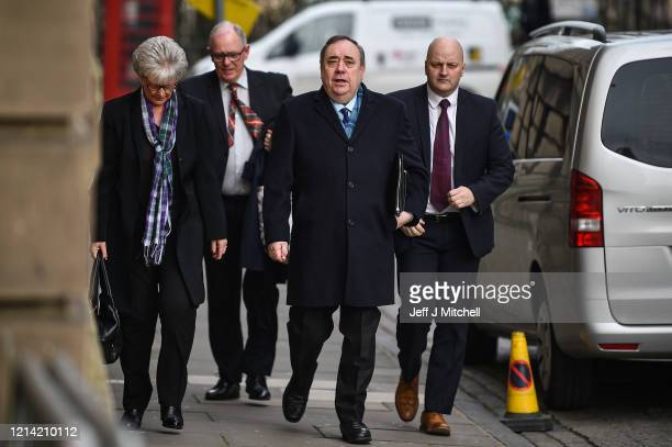 Former Scottish First Minister Alex Salmond arrives at Edinburgh High Court on March 23, 2020 in Edinburgh, Scotland. The jury in the Alex Salmond...