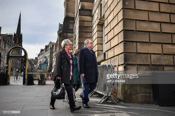 Former Scottish First Minister Alex Salmond departs Edinburgh High Court following day six of his trial on March 16 2020 in Edinburgh Scotland The...