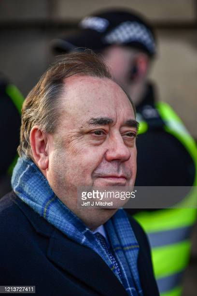 Former Scottish First Minister Alex Salmond departs Edinburgh High Court on March 20, 2020 in Edinburgh, Scotland. The jury in the Alex Salmond trial...