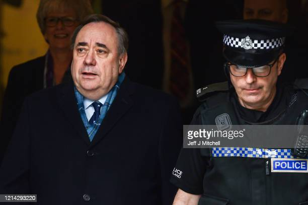 Former Scottish First Minister Alex Salmond departs Edinburgh High Court on March 23, 2020 in Edinburgh, Scotland. Alex Salmond has been cleared of...
