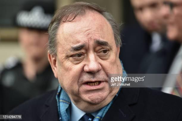 Former Scottish First Minister Alex Salmond departs Edinburgh High Court on March 23, 2020 in Edinburgh, Scotland. Alex Salmond has been cleared of...