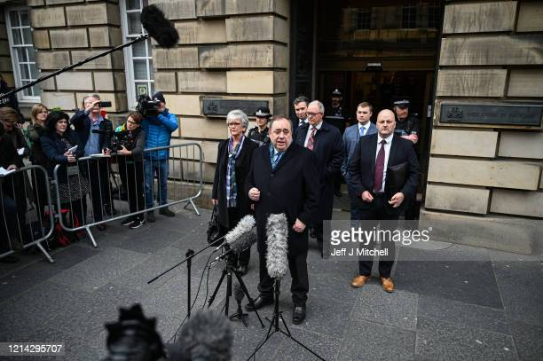 Former Scottish First Minister Alex Salmond departs Edinburgh High Court on March 23 2020 in Edinburgh Scotland Alex Salmond has been cleared of...