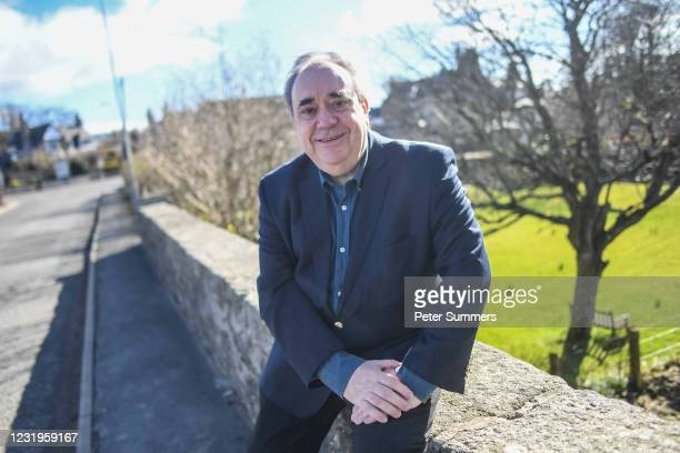 Former Scottish First Minister Alex Salmond poses for a portrait on March 27, 2021 in Strichen, Scotland. The former First Minister and SNP leader...