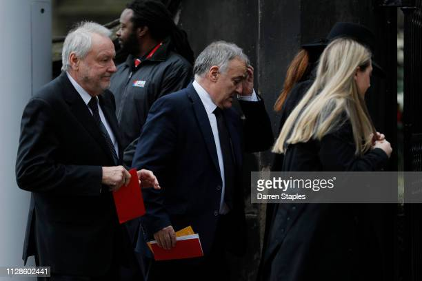 Former Scottish football player Lou Macari attends the funeral of 1966 World Cup and former Stoke City Goalkeeper Gordon Banks on March 04 2019 in...
