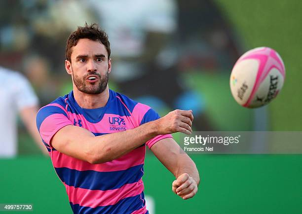 Former Scottish International Rugby player Thom Evans is pictured during day one of the HSBC Sevens World Series at The Sevens Stadium on December 3...