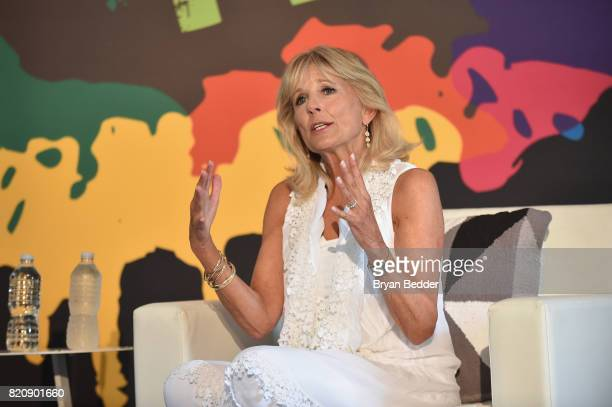 Former Second Lady of the United States Dr Jill Biden speaks onstage during OZY FEST 2017 Presented By OZYcom at Rumsey Playfield on July 22 2017 in...