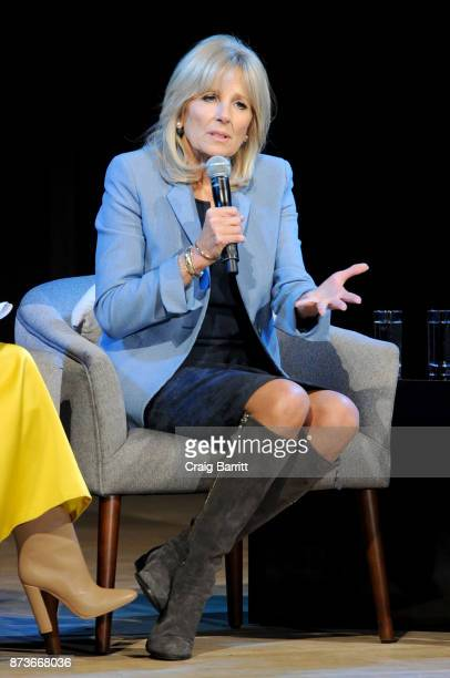 Former Second Lady of the United States Dr Jill Biden speaks onstage during Glamour Celebrates 2017 Women Of The Year Live Summit at Brooklyn Museum...