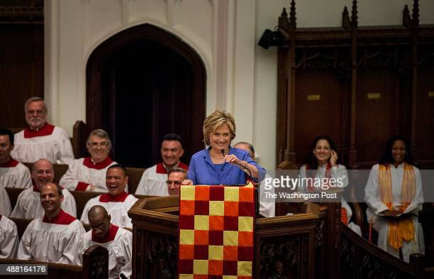 Former Secretary Hillary Clinton along with her daughter Chelsea Clinton and former President Bill Clinton participates in the Bicentennial...