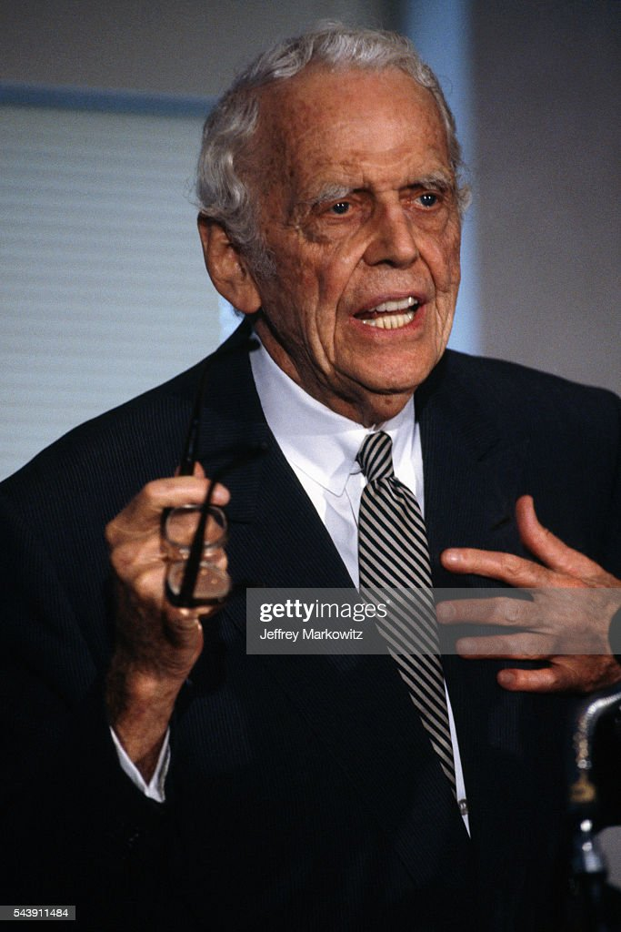 Former Secretary of Defense and Bank Chairman Clark Clifford : News Photo