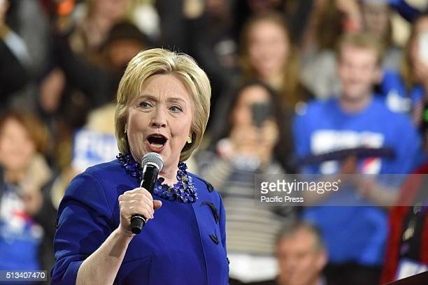 Former Secretary of State and front-running presidential candidate Hillary Clinton addresses remarks at Javits. Hillary Rodham Clinton affirmed her...