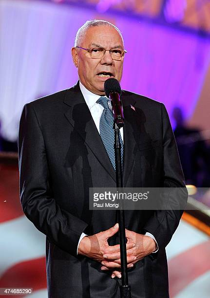 Former Secretary of State Colin Powell on stage at the 26th National Memorial Day Concert on May 24 2015 in Washington DC