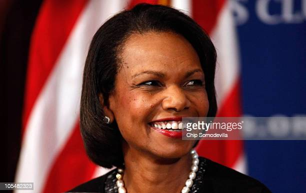 Former Secretary of State Condoleezza Rice talks about her new book 'Extraordinary Ordinary People A Memoir of Family' during the Newsmakers luncheon...