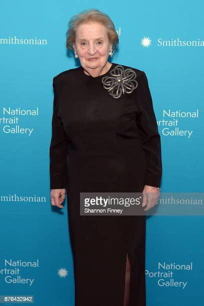 Former Secretary of State Dr Madeleine K Albright arrives at the National Portrait Gallery 2017 American Portrait Gala on November 19 2017 in...