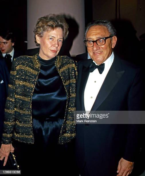 Former Secretary of State Henry Kissinger and United States Ambassador to the United Nations Jeane Kirkpatrick attending The New Republic...