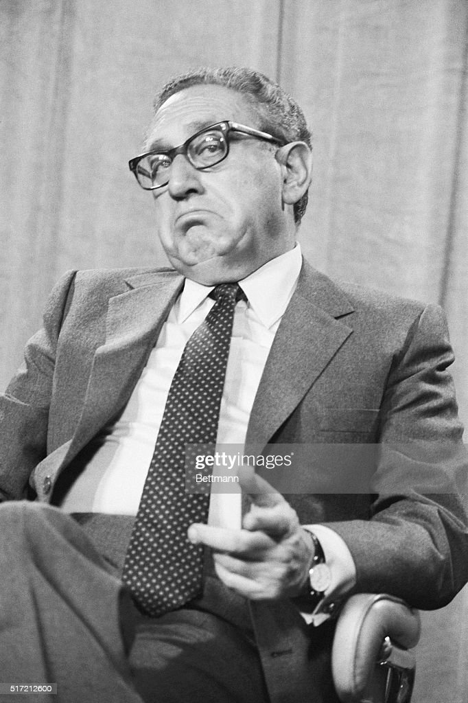 Former Secretary of State Henry Kissinger appears on 'This Week with David Brinkley' on October 23, 1983, saying that the U.S. should perhaps expand the Marine contingent in Lebanon. On the same day, several hundred Marines were killed by a car-bomb in Beirut.