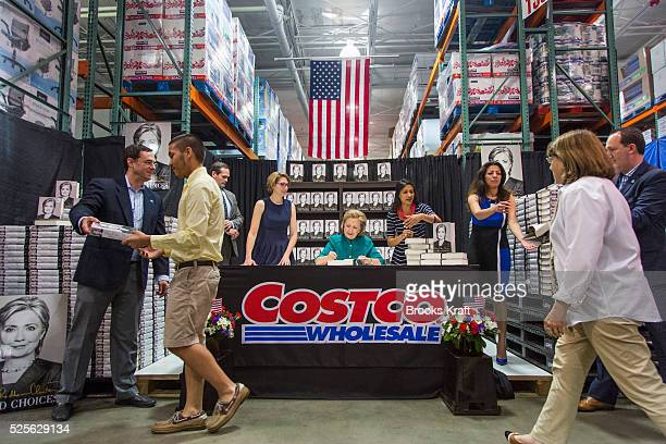 Former Secretary of State Hillary Clinton attends a signing her new book 'Hard Choices A Memoir' at Costco in Arlington VA Clinton is on a nationwide...