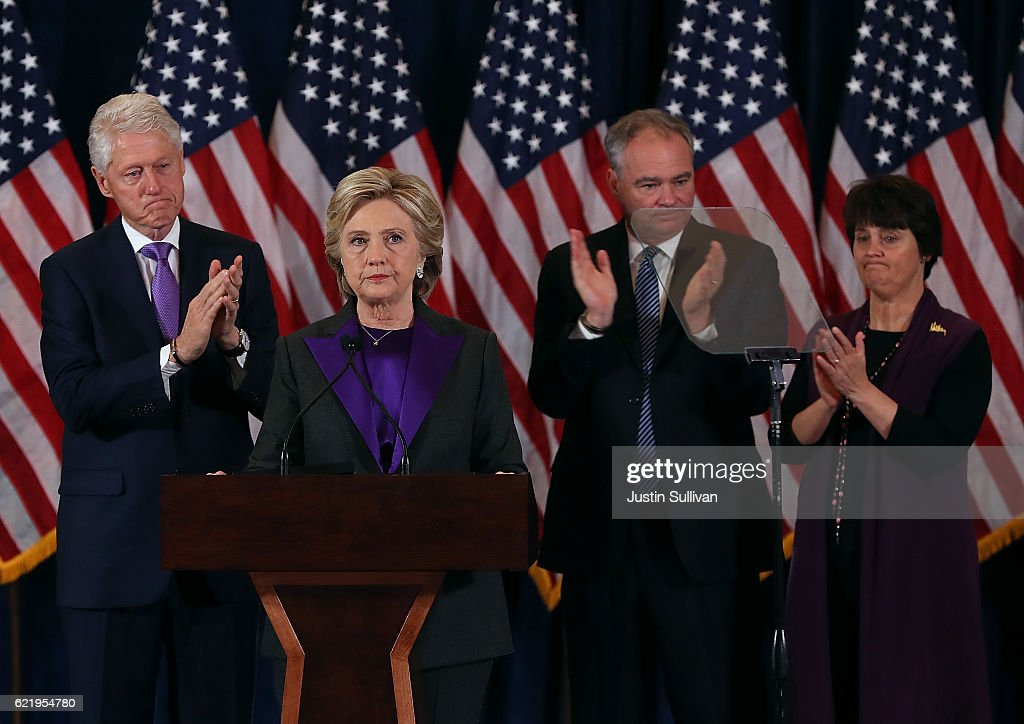 Hillary Clinton Makes A Statement After Loss In Presidential Election : News Photo