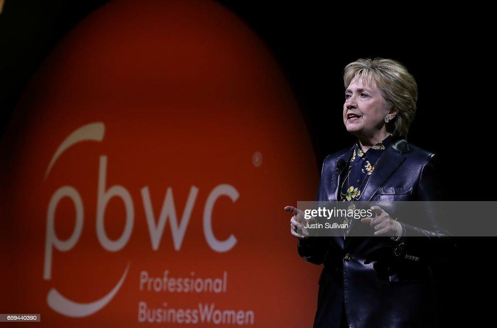 Hillary Clinton Addresses Professional Business Women Of California Conf. : News Photo