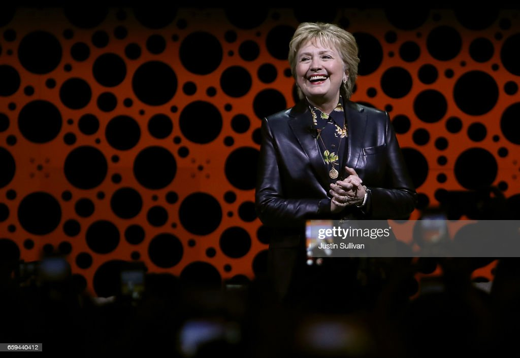 Former Secretary of State Hillary Clinton delivers a keynote address during the 28th Annual Professional Business Women of California conference on March 28, 2017 in San Francisco, California. Hillary Clinton delivered the keynote address at the day-long conference featuring speakers, seminars and panel discussions with industry leaders.