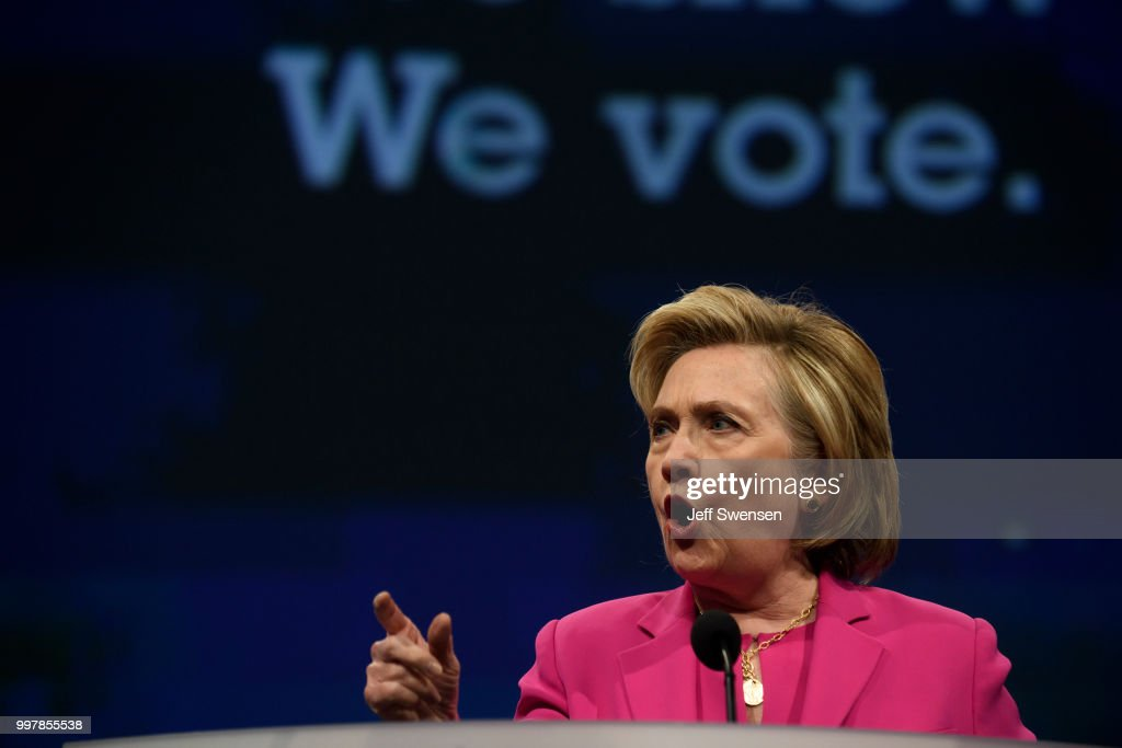 Hillary Clinton Addresses The American Federation Of Teachers Convention : News Photo