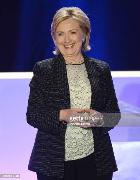 Former Secretary Of State Hillary Rodham Clinton is honored at Public Counsel's William O. Douglas Dinner at the Hyatt Regency Century Plaza on June...