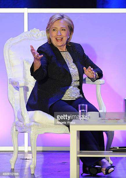 Former Secretary of State Hillary Rodham Clinton is honored at Public Counsel's William O Douglas Dinner at the Hyatt Regency Century Plaza on June...