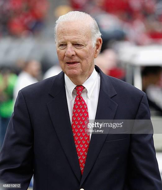 Former Secretary of State James Baker III at NRG Stadium on November 2 2014 in Houston Texas