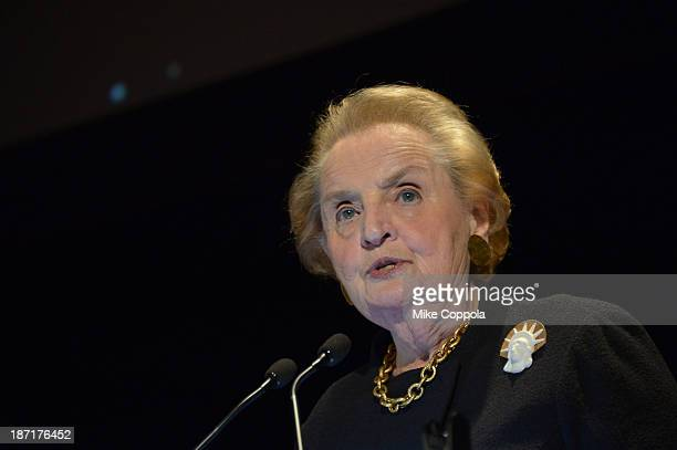 Former Secretary of State Madeleine Albright attends the Annual Freedom Award Benefit hosted by the International Rescue Committee at the...