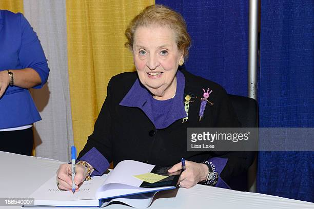 Former Secretary of State Madeleine Albright signs books at the Pennsylvania Conference For Women 2013 at Philadelphia Convention Center on November...