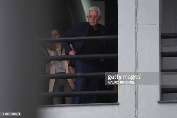 Former SecretaryGeneral of the Presidency Moreira Franco is seen at the Federal Police headquerters in Rio de Janeiro Brazil on March 22 a day after...