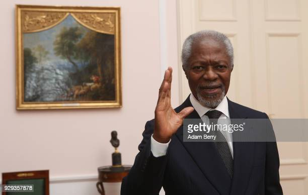 Former SecretaryGeneral of the United Nations Kofi Annan attends a dinner in honor of Former German President Horst Koehler during the latter's 75th...