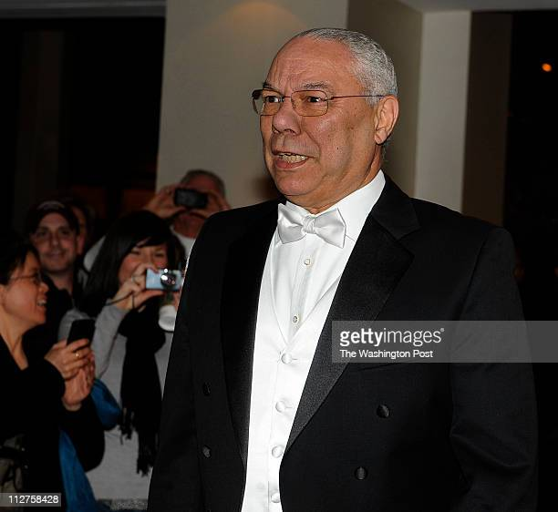 Former Secy of State Colin Powell arrives for the Gridiron Dinner at the Renaissance Hotel in Washington DC on March 12 2011