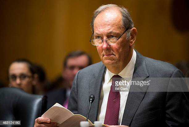 Former Sen Bill Bradley DNJ takes his seat for the Senate Finance Committee hearing on Getting to Yes on Tax Reform What Lessons Can Congress Learn...