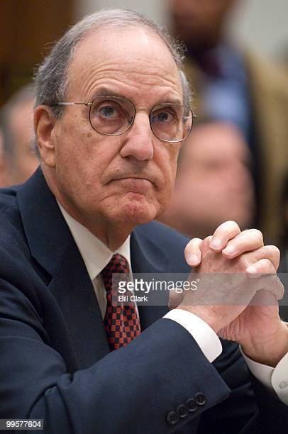 Former Sen George Mitchell DMaine author of The Mitchell Report The Illegal Use of Steroids in Major League Baseball testifies during the House...