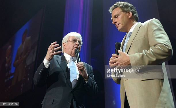 Former Sen Jack Kemp left and former DNC Chair Terry McAuliffe right chaired the Rock the Vote Wednesday June 8 2005 in Washington