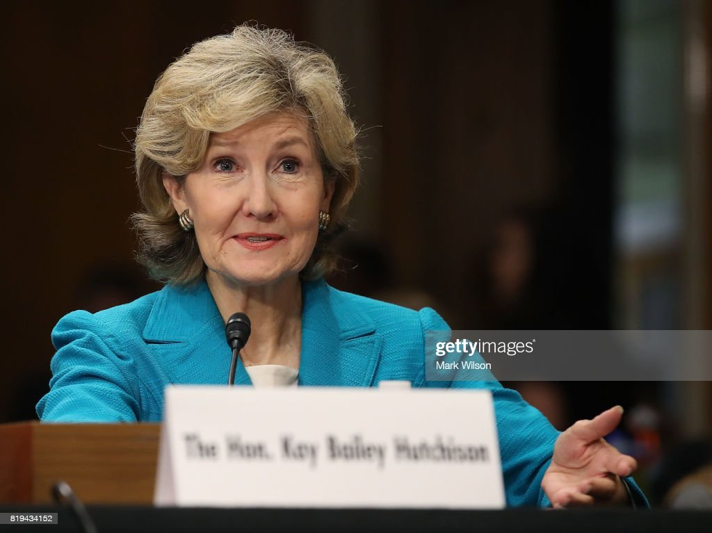 Senate Foreign Relations Holds Confirmation Hearing  For Kay Bailey Hutchison For NATO Ambassador : News Photo