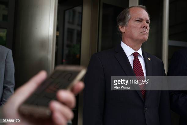 Former Senate Intelligence Committee Security Director James Wolfe comes out from the US District Courthouse after a status hearing June 19 2018 in...