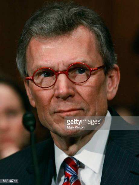 Former Senate Majority Leader Tom Daschle participates in his Senate Confirmation hearing before the Senate Health, Education, Labor and Pensions...