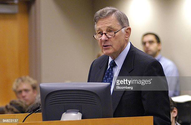 Former Senator Birch Bayh speaks at a public meeting on whether the federal government should free the patent of Abbott Laboratories' Norvir HIV drug...