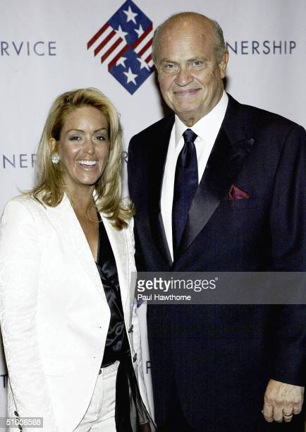 Former Senator Fred Thompson and his wife Jeri pose for a photo as they attend the Partnership For Public Service 2nd Annual Gala on June 28 2004 at...