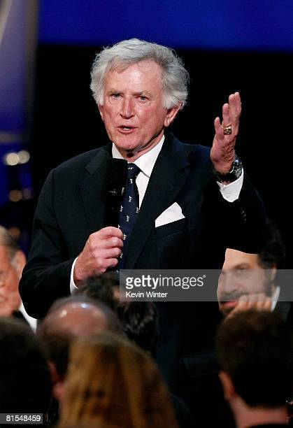 Former Senator Gary Hart speaks during the 36th AFI Life Achievement Award tribute to Warren Beatty held at the Kodak Theatre on June 12 2008 in...
