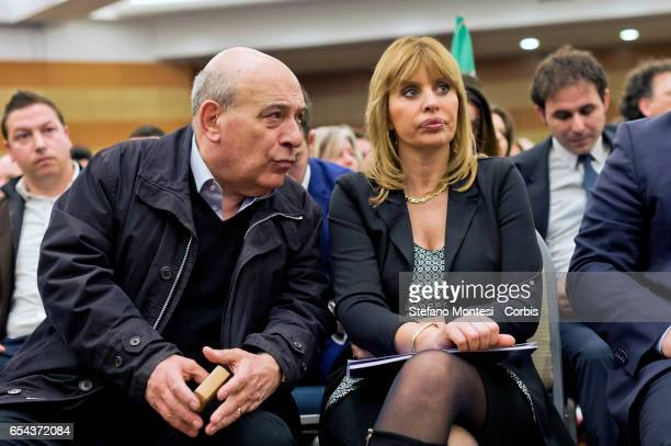 Former senator of Forza Italia Domenico Gramazio Alessandra Mussolini MEP Forza Italia during convention of Forza Italia 'Rome Italy and Europe that...