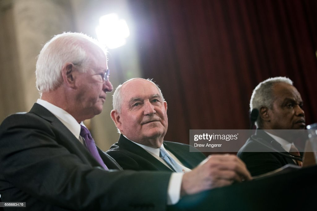 Senate Holds Confirmation Hearing For Sonny Perdue To Be Agriculture Secretary