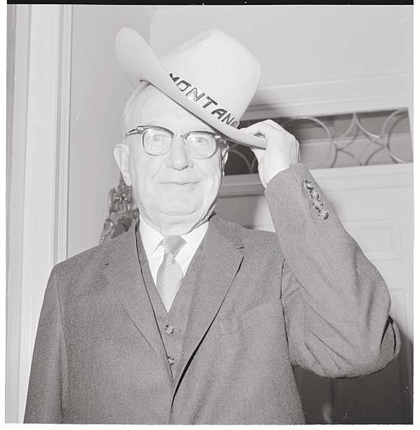 Burton K Wheeler Touching His Hat